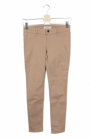 Детски панталон Abercrombie Kids, Размер 13-14y/ 164-168 см, Цвят Бежов, 98% памук, 2% еластан, Цена 11,27лв.