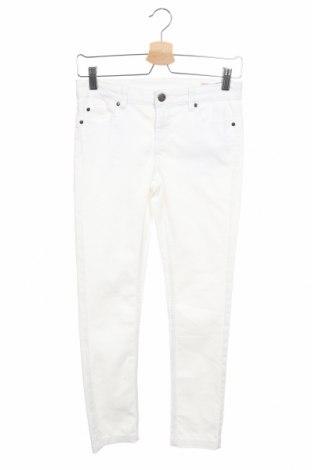 Детски панталон Oviesse, Размер 11-12y/ 152-158 см, Цвят Бял, 65% памук, 33% полиестер, 2% еластан, Цена 19,64лв.