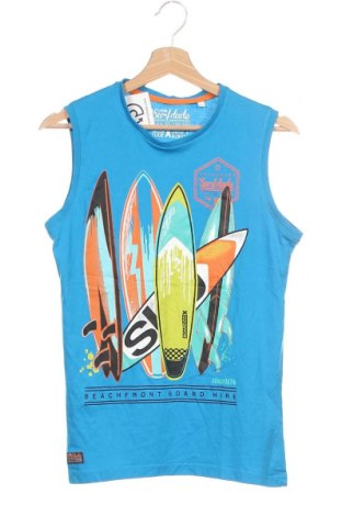 Μπλουζάκι αμάνικο παιδικό Here+There, Μέγεθος 12-13y/ 158-164 εκ., Χρώμα Μπλέ, Βαμβάκι, Τιμή 8,18€