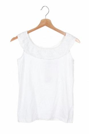 Μπλουζάκι αμάνικο παιδικό Name It, Μέγεθος 10-11y/ 146-152 εκ., Χρώμα Λευκό, 95% βαμβάκι, 5% ελαστάνη, Τιμή 12,15€