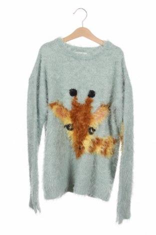 Dětský svetr  Zara Knitwear, Velikost 13-14y/ 164-168 cm, Barva Zelená, 70% polyamide, 29%acryl, 1% jiné tkaniva , Cena  510,00Kč