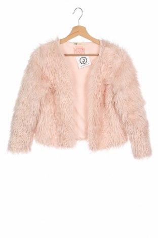 Детско палто H&M, Размер 14-15y/ 168-170 см, Цвят Розов, 55% полиестер, 45% акрил, Цена 23,04лв.