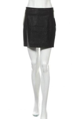 Δερμάτινη φούστα Free People, Μέγεθος S, Χρώμα Μαύρο, Δερματίνη, Τιμή 22,02€