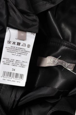 Кожена пола Jake*s, Размер XS, Цвят Черен, Еко кожа, Цена 32,40лв.