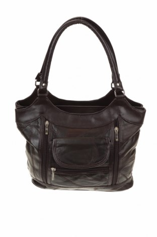 Дамска чанта, Цвят Кафяв, Естествена кожа, еко кожа, Цена 40,95лв.