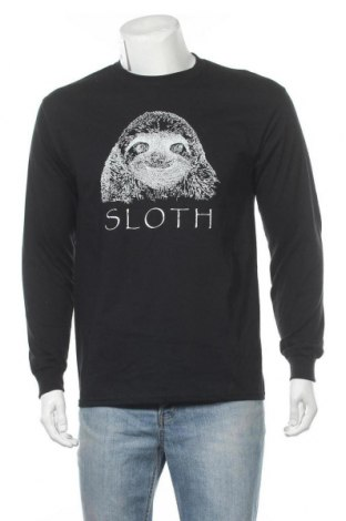 Мъжка блуза Gildan, Размер M, Цвят Черен, Памук, Цена 19,79лв.
