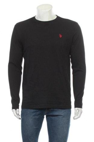 Ανδρική μπλούζα U.S. Polo Assn., Μέγεθος L, Χρώμα Μαύρο, Βαμβάκι, Τιμή 24,49€