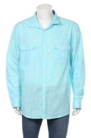 Ανδρικό πουκάμισο Alfani, Μέγεθος XXL, Χρώμα Μπλέ, 72% βαμβάκι, 28% πολυεστέρας, Τιμή 11,04€