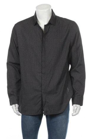 Ανδρικό πουκάμισο Alfani, Μέγεθος XL, Χρώμα Μαύρο, 75% βαμβάκι, 25% πολυεστέρας, Τιμή 6,43€