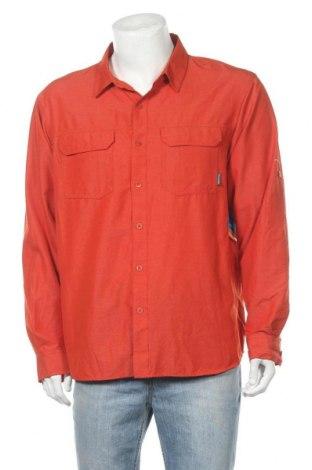 Мъжка риза Columbia, Размер L, Цвят Оранжев, Полиамид, Цена 23,94лв.
