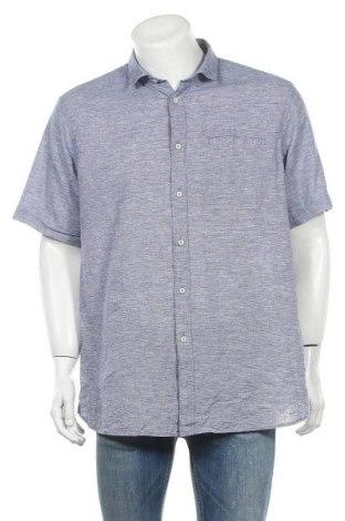 Ανδρικό πουκάμισο Conbipel, Μέγεθος XXL, Χρώμα Μπλέ, 55% λινό, 45% βαμβάκι, Τιμή 10,52€