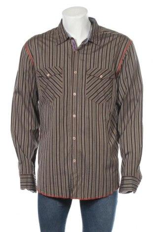 Ανδρικό πουκάμισο Express, Μέγεθος XL, Χρώμα Καφέ, 82% βαμβάκι, 18% βισκόζη, Τιμή 10,49€