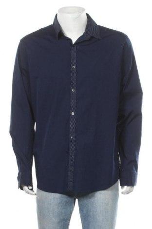 Ανδρικό πουκάμισο Express, Μέγεθος XXL, Χρώμα Μπλέ, 97% βαμβάκι, 3% ελαστάνη, Τιμή 11,11€