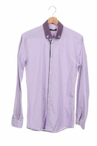 Ανδρικό πουκάμισο Georges Rech, Μέγεθος S, Χρώμα Βιολετί, 80% βαμβάκι, 20% πολυεστέρας, Τιμή 5,28€