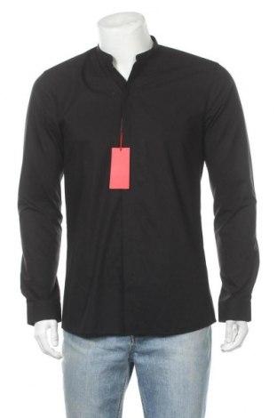 Ανδρικό πουκάμισο Hugo Boss, Μέγεθος M, Χρώμα Μαύρο, Βαμβάκι, Τιμή 83,78€