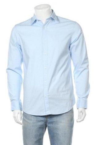 Ανδρικό πουκάμισο Jack & Jones, Μέγεθος M, Χρώμα Μπλέ, 97% βαμβάκι, 3% ελαστάνη, Τιμή 18,14€