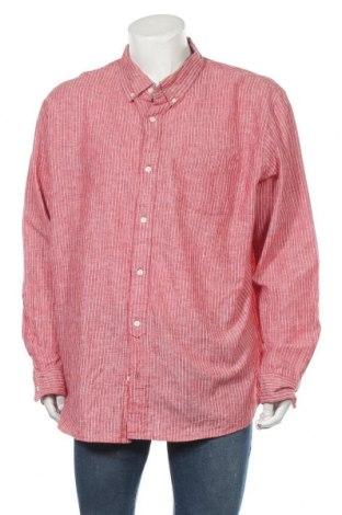 Ανδρικό πουκάμισο Joe Fresh, Μέγεθος XXL, Χρώμα Κόκκινο, 55% λινό, 44% βαμβάκι, Τιμή 12,34€