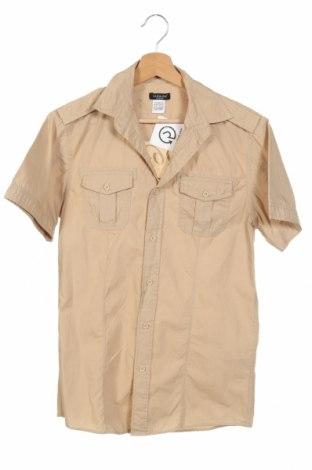 Ανδρικό πουκάμισο La Redoute, Μέγεθος XS, Χρώμα  Μπέζ, Βαμβάκι, Τιμή 10,52€