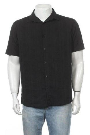 Ανδρικό πουκάμισο Next, Μέγεθος L, Χρώμα Μαύρο, 71% βαμβάκι, 26% πολυεστέρας, 3% ελαστάνη, Τιμή 8,18€
