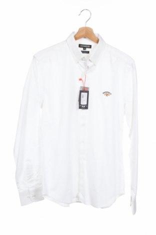 Ανδρικό πουκάμισο Spagnolo, Μέγεθος S, Χρώμα Λευκό, Βαμβάκι, Τιμή 14,23€