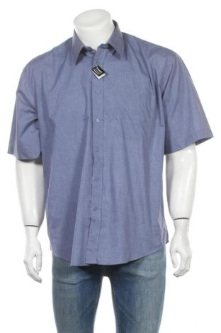 Ανδρικό πουκάμισο Trendy, Μέγεθος L, Χρώμα Μπλέ, 65% πολυεστέρας, 35% βαμβάκι, Τιμή 7,73€