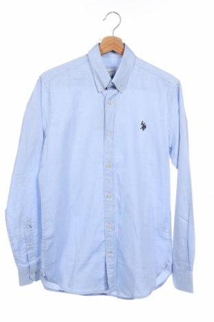 Ανδρικό πουκάμισο U.S. Polo Assn., Μέγεθος S, Χρώμα Μπλέ, Βαμβάκι, Τιμή 19,39€