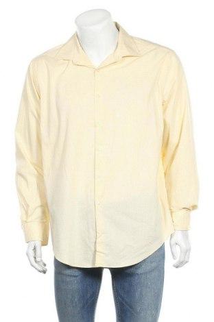 Мъжка риза Van Heusen, Размер XXL, Цвят Жълт, 67% памук, 29% полиестер, 4% еластан, Цена 4,87лв.