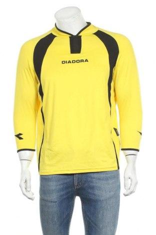 Ανδρική αθλητική μπλούζα Diadora, Μέγεθος L, Χρώμα Κίτρινο, Πολυεστέρας, Τιμή 12,47€