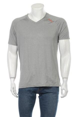 Мъжка тениска 2XU, Размер M, Цвят Сив, 88% полиестер, 12% еластан, Цена 13,28лв.