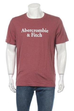 Ανδρικό t-shirt Abercrombie & Fitch, Μέγεθος XL, Χρώμα Κόκκινο, Βαμβάκι, Τιμή 30,16€
