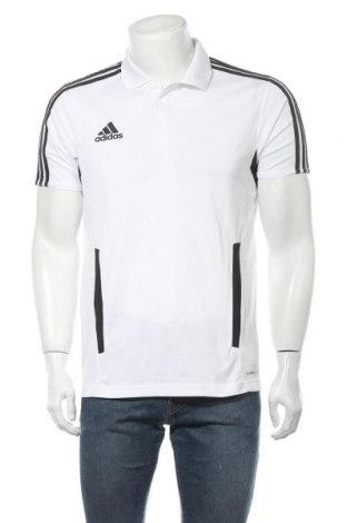 Ανδρικό t-shirt Adidas, Μέγεθος L, Χρώμα Λευκό, Πολυεστέρας, Τιμή 16,96€