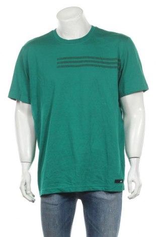 Мъжка тениска Adidas, Размер XL, Цвят Зелен, 70% памук, 30% полиестер, Цена 61,95лв.