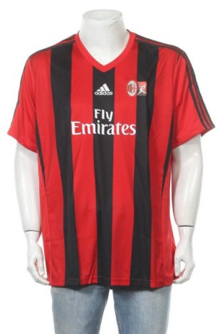 Мъжка тениска Adidas, Размер XXL, Цвят Червен, Полиестер, Цена 59,25лв.