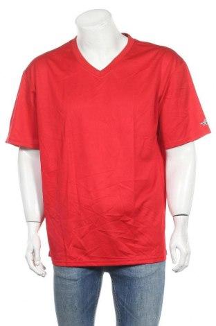 Мъжка тениска Alleson, Размер XL, Цвят Червен, Полиестер, Цена 17,01лв.