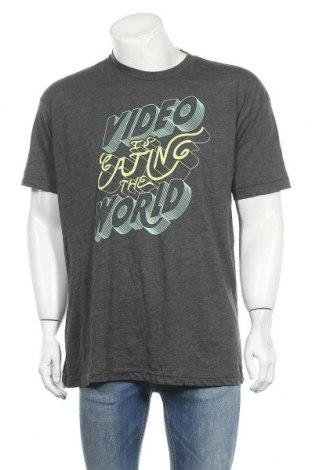 Ανδρικό t-shirt American Apparel, Μέγεθος XL, Χρώμα Γκρί, 50% βαμβάκι, 50% πολυεστέρας, Τιμή 4,68€