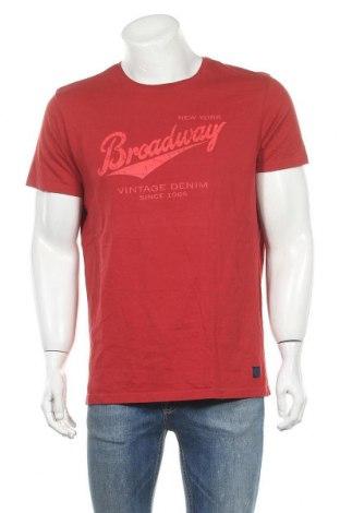 Ανδρικό t-shirt Broadway, Μέγεθος XXL, Χρώμα Κόκκινο, Βαμβάκι, Τιμή 5,52€