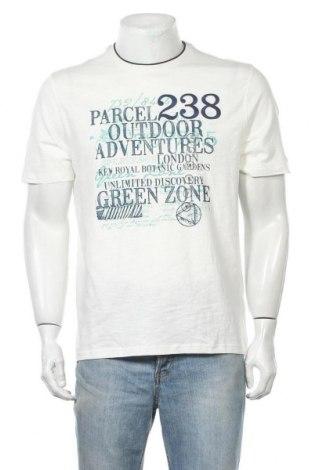 Мъжка тениска Canda, Размер M, Цвят Бял, Памук, Цена 16,96лв.
