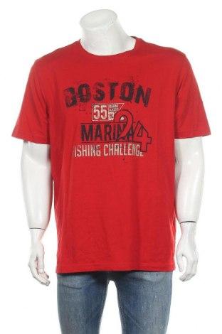 Ανδρικό t-shirt Charles Vogele, Μέγεθος XXL, Χρώμα Κόκκινο, Βαμβάκι, Τιμή 8,18€