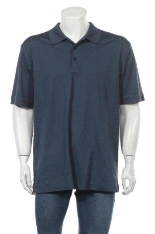 Мъжка тениска Cutter & Buck, Размер L, Цвят Син, 51% памук, 49% полиестер, Цена 19,95лв.