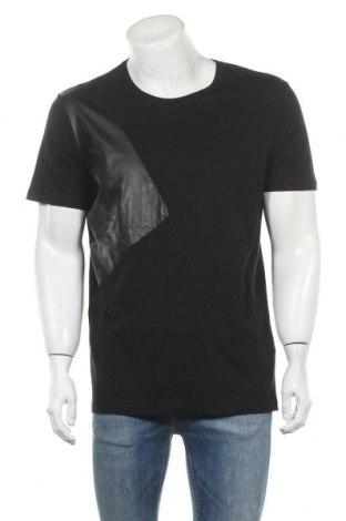Ανδρικό t-shirt Defacto, Μέγεθος L, Χρώμα Μαύρο, Βαμβάκι, Τιμή 11,11€