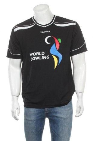 Ανδρικό t-shirt Diadora, Μέγεθος S, Χρώμα Μαύρο, Τιμή 3,86€