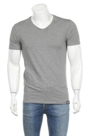 Мъжка тениска Diesel, Размер M, Цвят Сив, 95% памук, 5% еластан, Цена 74,25лв.