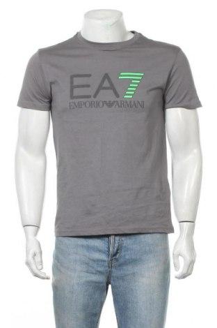 Мъжка тениска Emporio Armani, Размер M, Цвят Сив, Памук, Цена 58,80лв.