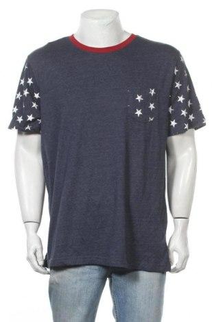 Ανδρικό t-shirt Faded Glory, Μέγεθος L, Χρώμα Μπλέ, 52% βαμβάκι, 48% πολυεστέρας, Τιμή 10,52€