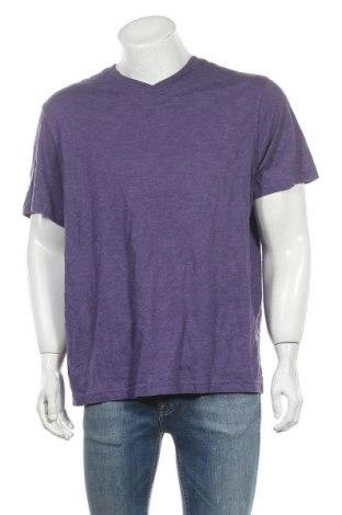 Ανδρικό t-shirt Faded Glory, Μέγεθος XL, Χρώμα Βιολετί, 60% βαμβάκι, 40% πολυεστέρας, Τιμή 10,49€