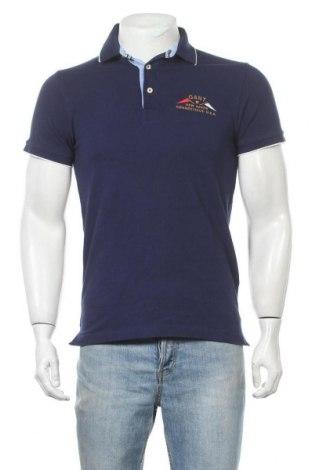 Мъжка тениска Gant, Размер S, Цвят Син, Памук, Цена 30,45лв.