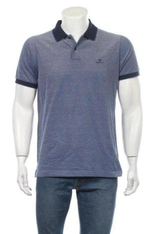 Мъжка тениска Gant, Размер L, Цвят Син, Памук, Цена 33,92лв.