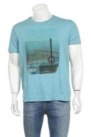 Ανδρικό t-shirt George, Μέγεθος L, Χρώμα Μπλέ, Βαμβάκι, Τιμή 8,64€