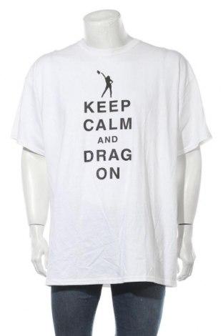 Мъжка тениска Gildan, Размер XXL, Цвят Бял, Памук, Цена 14,28лв.