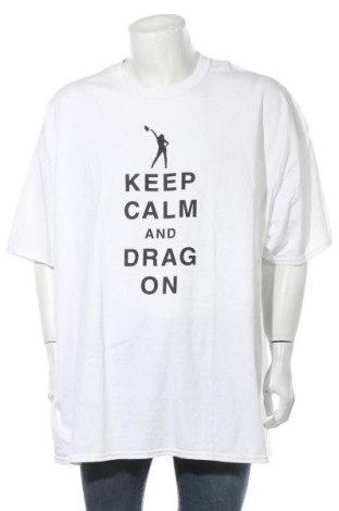 Мъжка тениска Gildan, Размер 4XL, Цвят Бял, Памук, Цена 16,96лв.
